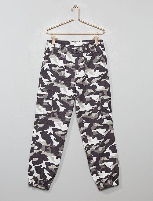 Pantalon cargo 'camouflage'                                         gris