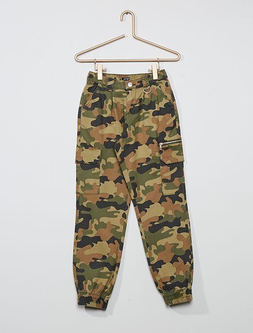 Pantalon cargo en twill                                                                             kaki