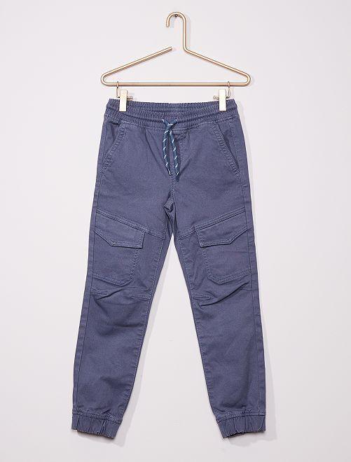 Pantalon cargo slim                                         bleu