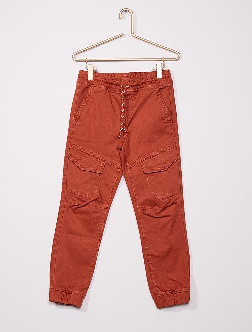 Pantalon cargo slim                                         marron