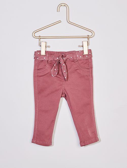 Pantalon + ceinture imprimée                                                     violet
