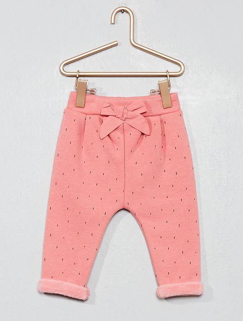 Pantalon chaud en molleton doublé                                                     rose