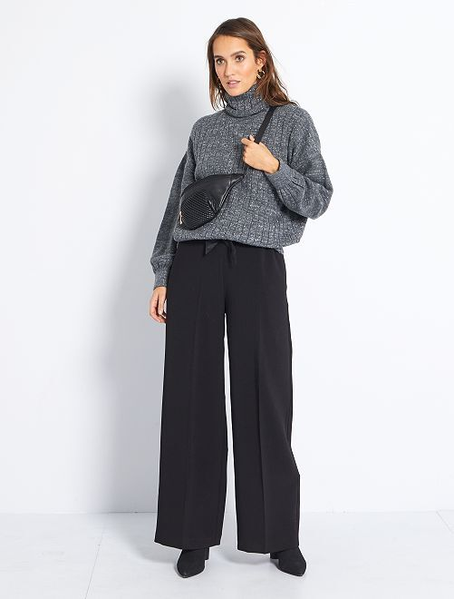 Pantalon chic large                             noir