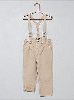 Garçon 0-36 mois - Pantalon chino à bretelles - Kiabi