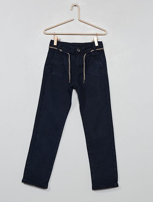 Pantalon chino à pinces                                         bleu marine Garçon