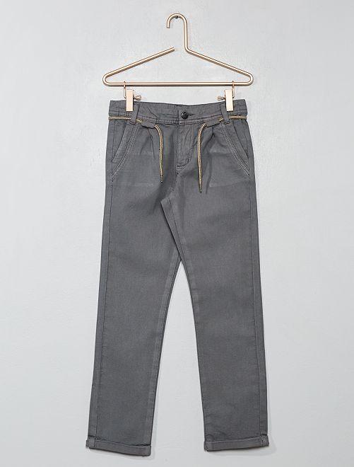 Pantalon chino à pinces                                         gris Garçon