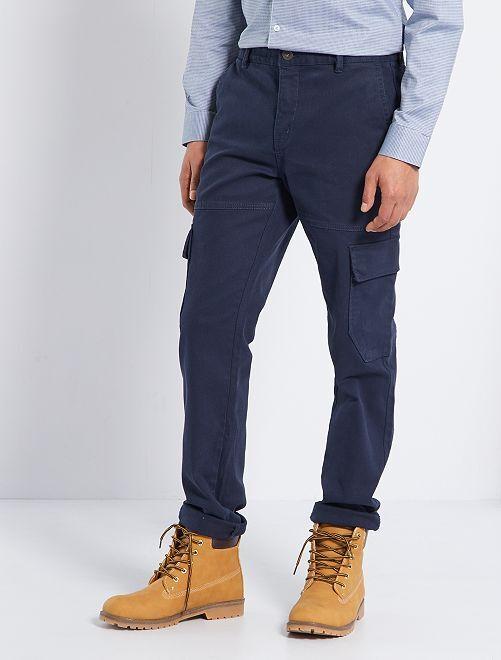 Pantalon chino battle                                         bleu
