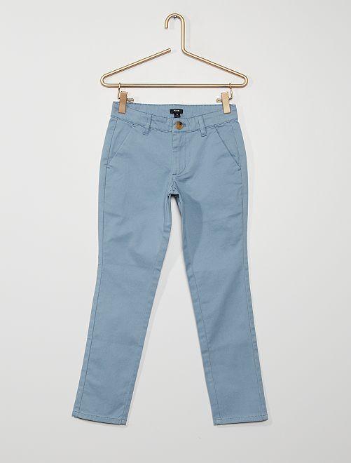 Pantalon chino                                                                                                                 bleu denim