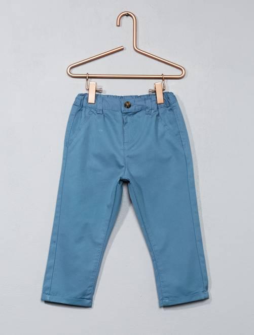 pantalon chino b b gar on bleu gris kiabi 7 00. Black Bedroom Furniture Sets. Home Design Ideas