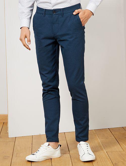 Pantalon chino                                                     bleu marine/bleu canard
