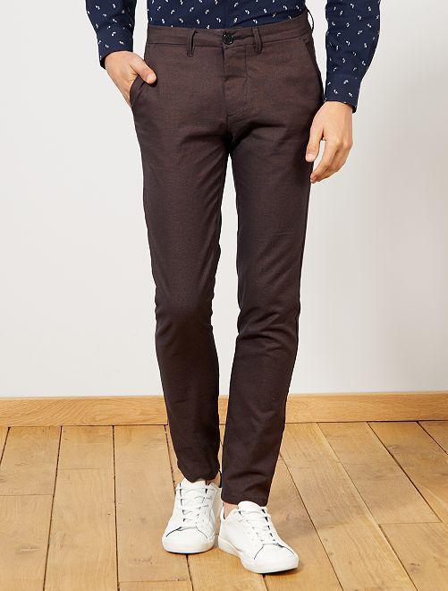 Pantalon chino                                                     bleu marine/rouille