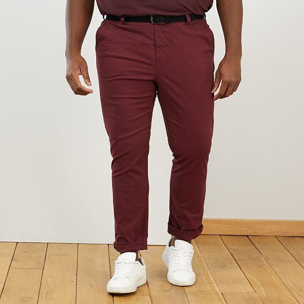 Pantalon chino + ceinture