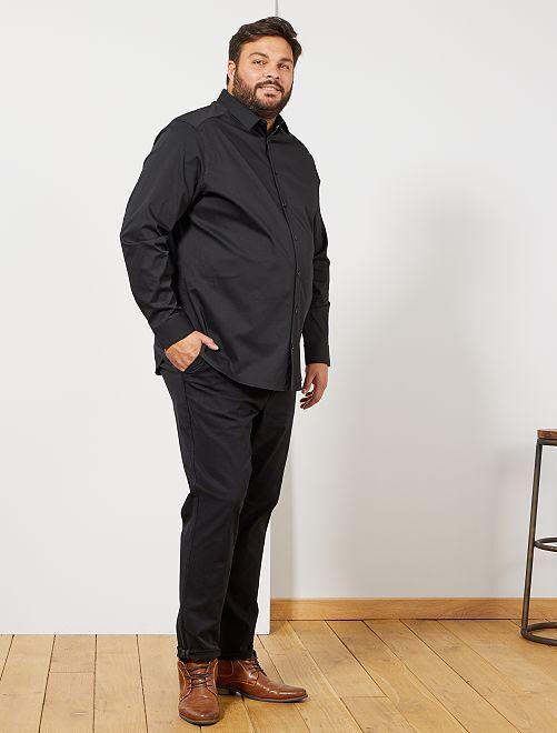 Pantalon chino + ceinture                             noir