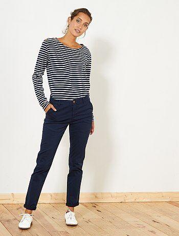 Femme du 34 au 48 - Pantalon chino coloré - Kiabi