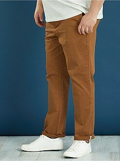 Pantalon chino couleur semi-slim