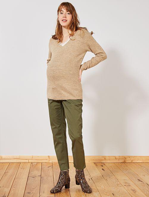 Pantalon chino de grossesse                                         kaki
