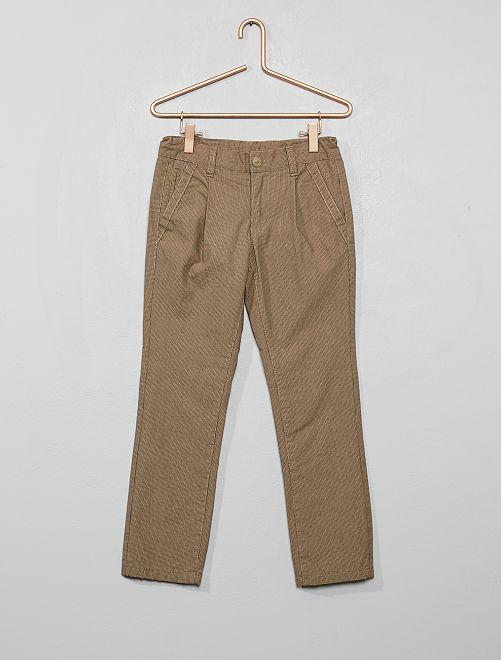 Pantalon chino doublé                                         beige