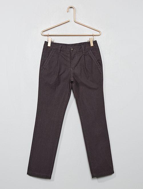 Pantalon chino doublé                                         GRIS