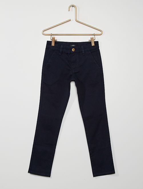 Pantalon chino éco-conçu                                                                 bleu marine
