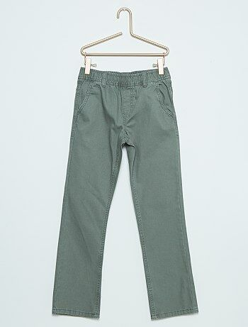 Pantalon chino en canvas