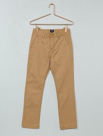 pantalon chino en twill gar on beige kiabi 10 00. Black Bedroom Furniture Sets. Home Design Ideas