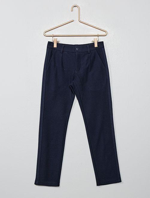 Pantalon chino en twill                                         bleu marine