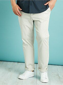 Pantalon casual - Pantalon chino en twill coupe droite