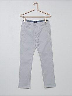 Pantalon - Pantalon chino en twill coupe slim - Kiabi