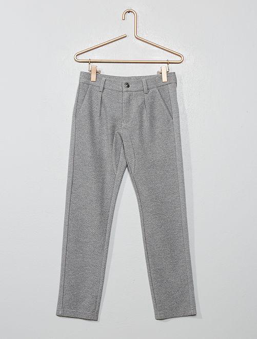 Pantalon chino en twill                                         gris