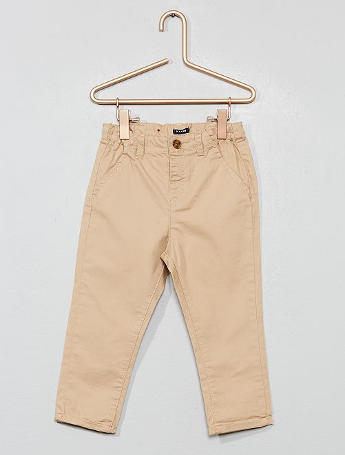 Pantalon chino en twill léger                                                                             beige