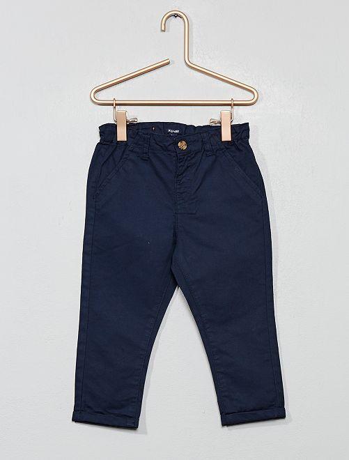 Pantalon chino en twill léger                                                                             bleu marine Bébé garçon