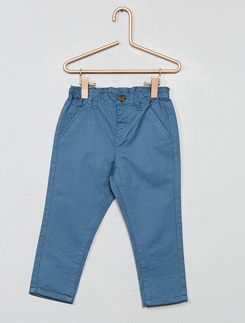 Pantalon chino en twill léger                                                                             bleu pétrole Bébé garçon