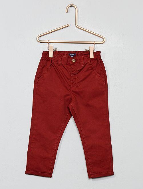 Pantalon chino en twill léger                                                                             marron brique Bébé garçon