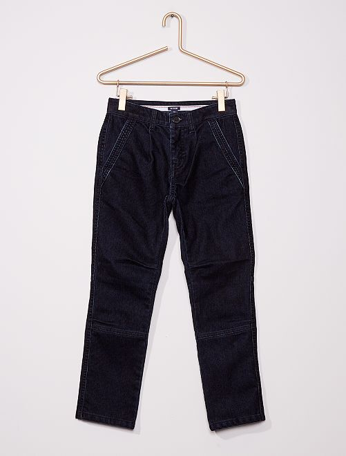 Pantalon chino en velours                                         bleu