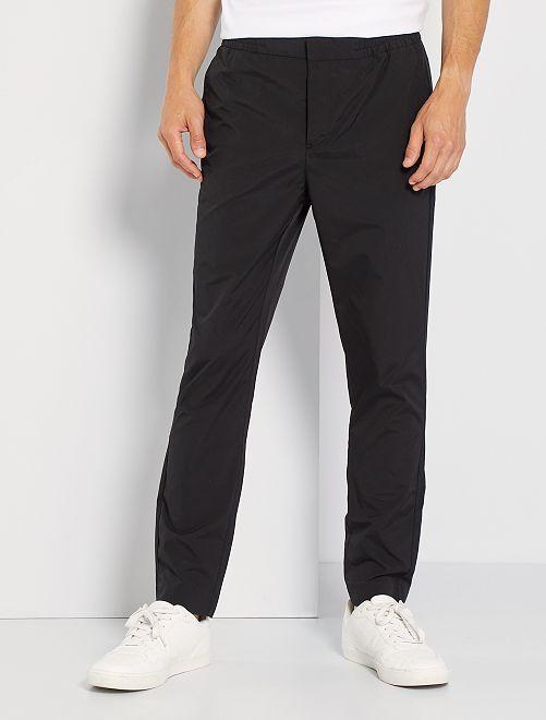 Pantalon chino esprit jogger                                         noir