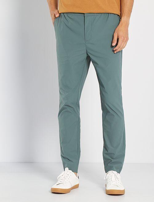 Pantalon chino esprit jogger                                         vert gris