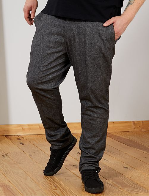 Pantalon chino fitted à chevrons                             gris Grande taille homme