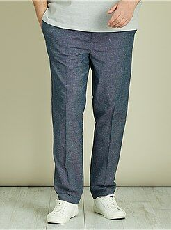 Pantalon casual - Pantalon chino fitted coton piqué - Kiabi