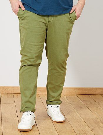 527af8e957b Grande taille homme - Pantalon chino fitted en twill - Kiabi