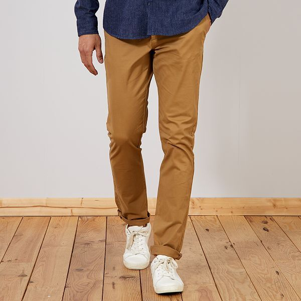Pantalon chino fitted L36 +1m90 Homme de