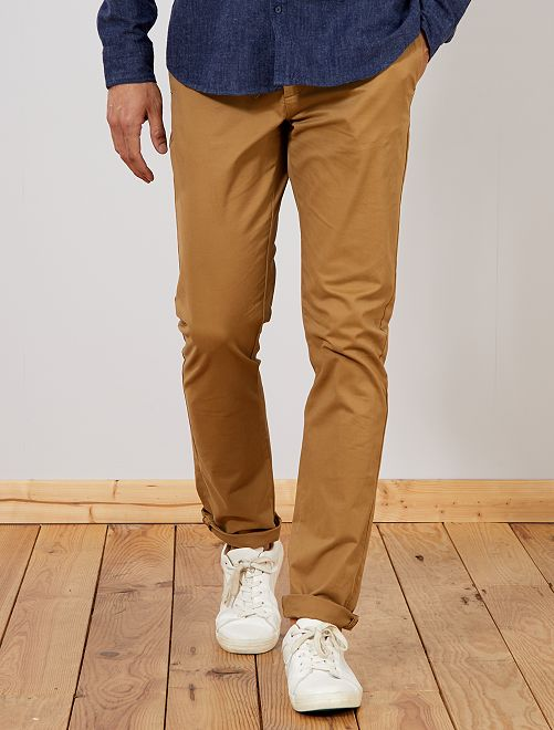 Pantalon chino fitted L36 +1m90                                                                             beige
