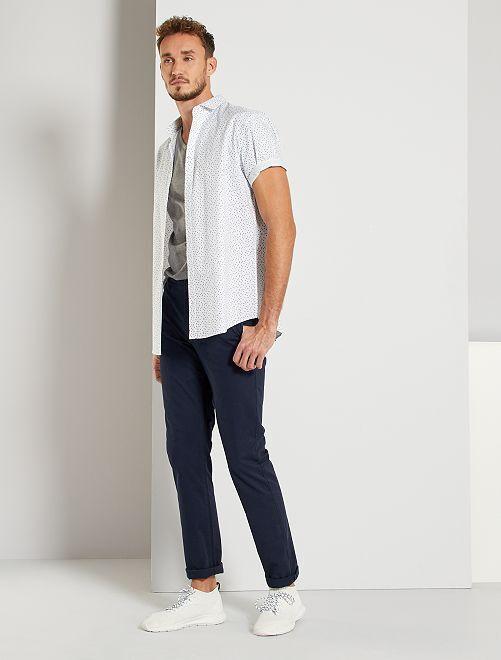 Pantalon chino fitted L36 +1m90                                             bleu marine