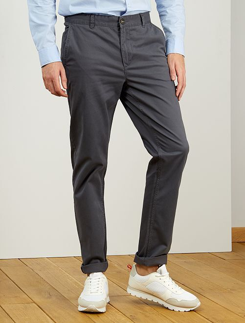 Pantalon chino fitted L36 +1m90                                                                             gris