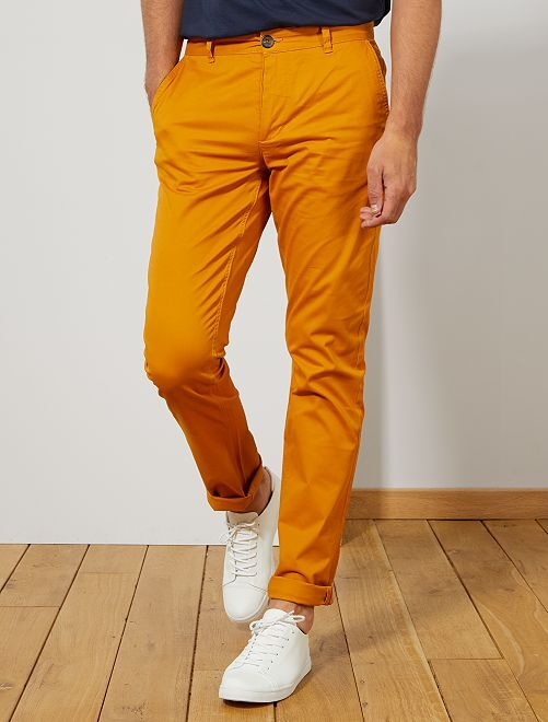 Pantalon chino fitted L36 +1m90                                                                 jaune
