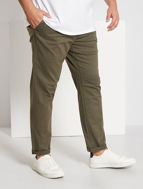 Pantalon chino fitted L36 +1m90                                                                             kaki