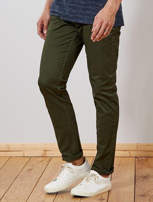 Pantalon chino fitted L36 +1m90                                                                 kaki Homme de plus d'1m90