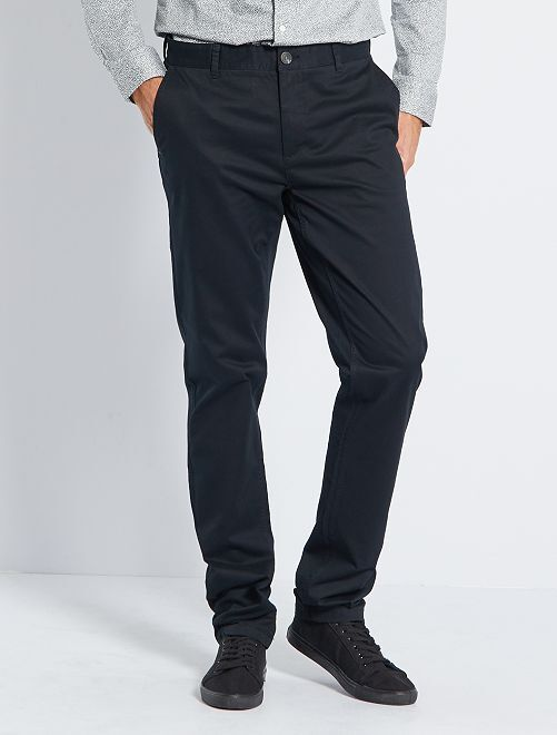Pantalon chino fitted L36 +1m90                                                         noir