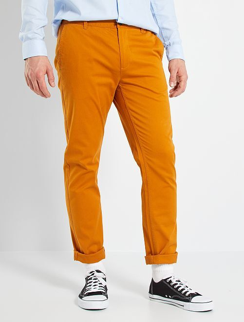 Pantalon chino fitted L36 +1m90                                                     rouille