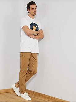Pantalon chino fitted L38 +1m90 - Kiabi