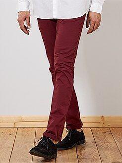 Homme de plus d'1m90 - Pantalon chino fitted L38 +1m90 - Kiabi